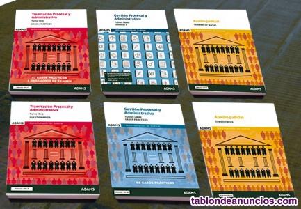 Lote libros oposiciones justicia  (gestion, tramitación