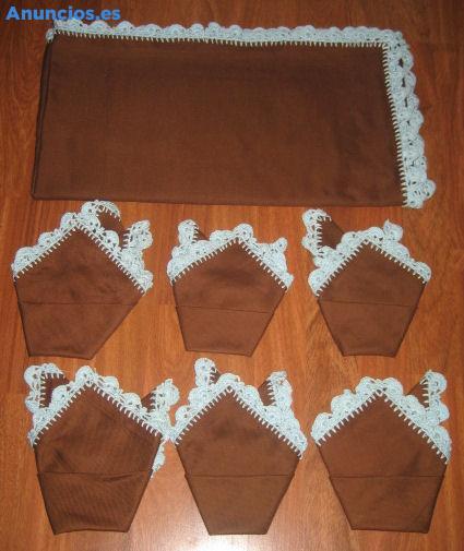 Mantel Marron Chocolate Para Mesa Baja