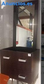 Mueble De BañO Nuevo Con Espejo Color Wengue 40€