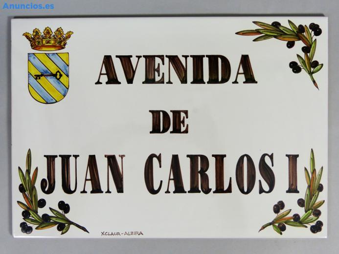 Placa De Calle Con Cantonera De Aceitunas 31x45 Cm