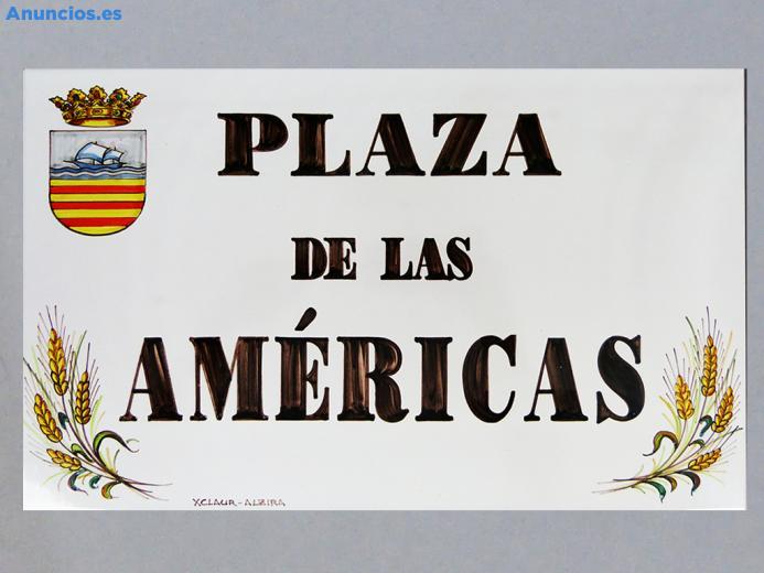 Placa De Calle Con Cantonera De Trigo 31x45 Cm