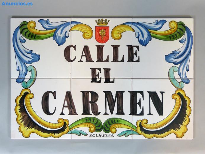 Placa De Calle Con Cenefa Barroca 60x40 Cm
