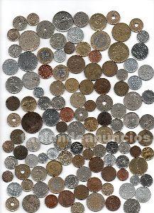 1 kilo de monedas extranjeras por 15 euros