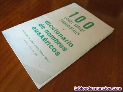100 libros vascos fundamentales y diccionario de nombres