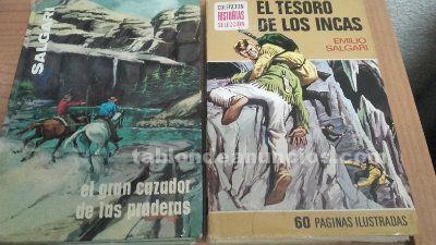 2 libros de emilio salgari x 3 €