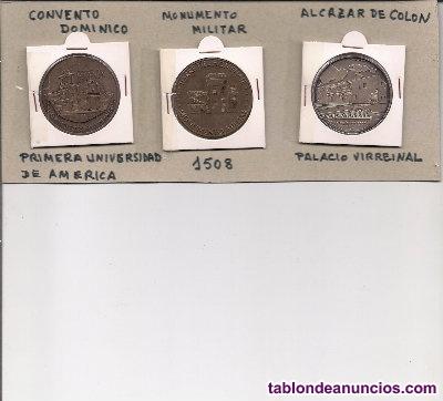 3 medallas de cobre de 38 mm.