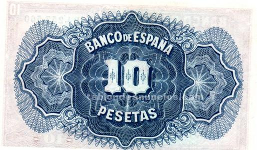 Billete de 10 pesetas