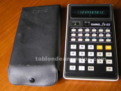 Calculadora casio fx-101 scientific calculator con su funda