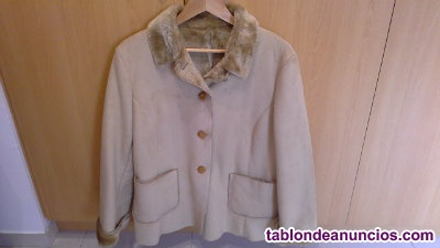 Chaqueta mujer color beige