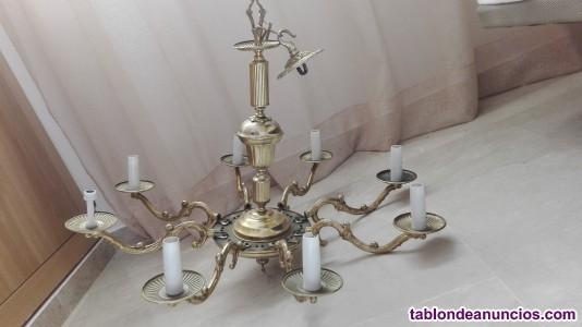 Lámpara techo latón y baño de oro