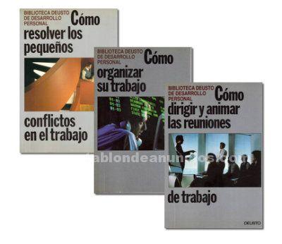 Lote 3 libros biblioteca deusto de desarrollo personal