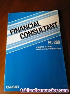Manual del propietario de calculadora casio fc-200 financial