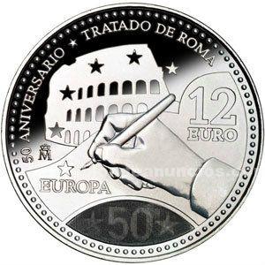 Moneda conmemorativa 12 euros .