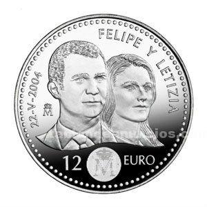 Moneda conmemorativa 12 euros  (boda