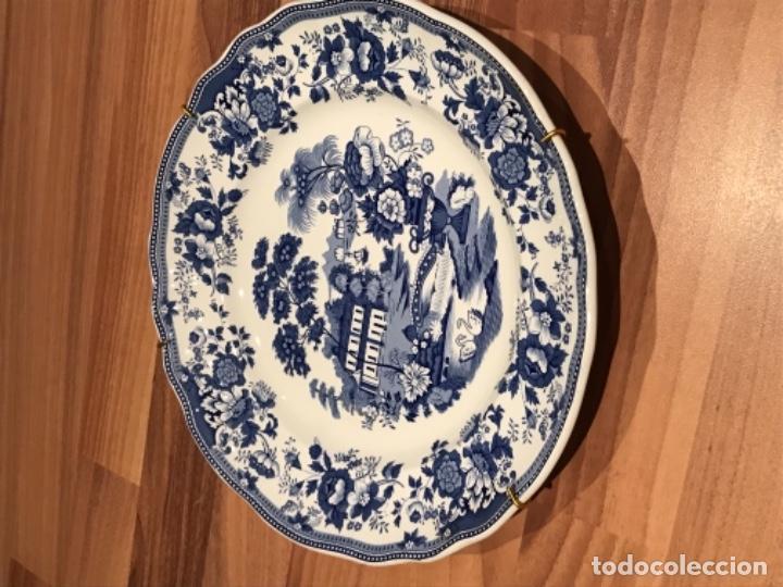 Pareja de platos de porcelana Inglesa ironstone Empire