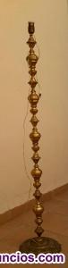 Pie de lámpara de, de bronce macizo, años 60