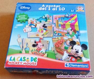 Puzzle de numeros de mickey mouse