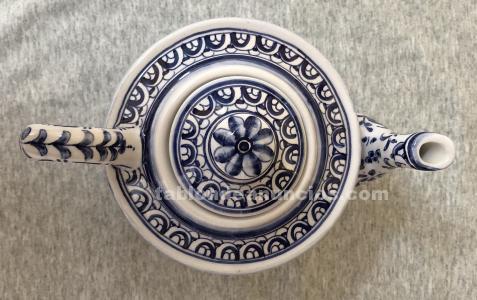 Tetera cerámica pintada a mano portuguesa.
