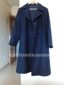 Abrigo de paño azul oscuro