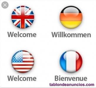 Clases de español, inglés, alemán y francés