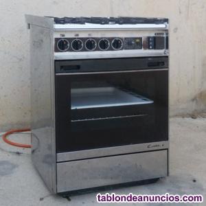 Cocina gas butano 4 hornillos + horno