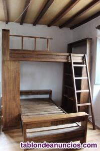 Habitación literas madera maciza