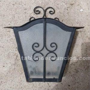 Lámpara exterior hierro y cristal