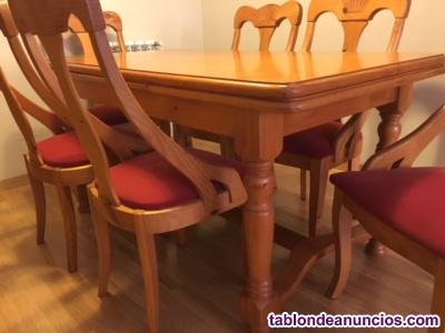 Mueble de salon, mesa y sillas