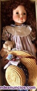 Se vende muñeca de porcelana de colección
