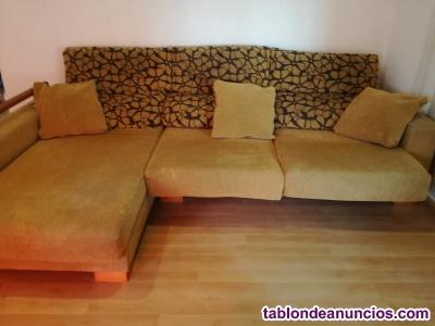 Sofa tres plazas chaise longue semi nuevo¡¡¡