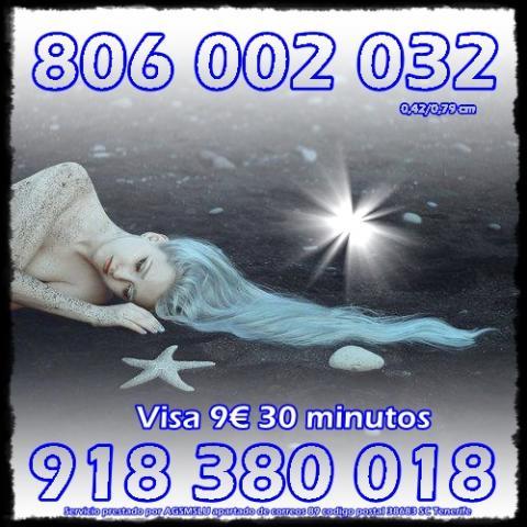 TAROTISTAS CERTERAS- CONSULTA VISA 9€ 30 MIN. LINEA 806
