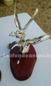 Vendo figuras de plata para decoración