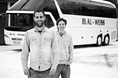 2 conductores de autobús en karlsruhe, alemania