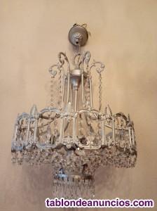 2 lámparas de cristal de roca