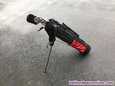 6 palos golf y bolsa