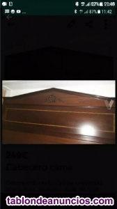 Cabecero de madera hecho a mano cama de 1,80