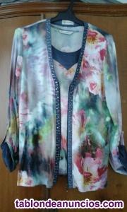 Conjunto de jersey y camiseta de señora