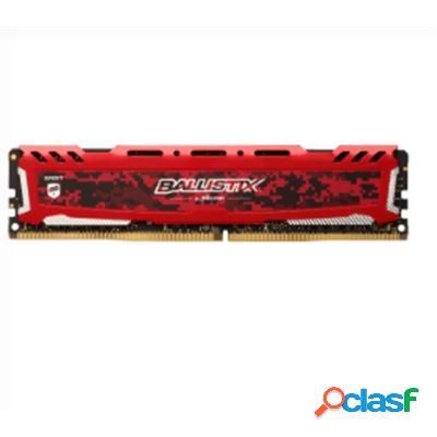 Crucial Ballistix Sport Lt 8Gb Ddr4 2666Mt/s Rojo, original