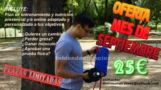 """Entrenador presencial y online manuel """"donimanutrainer"""""""