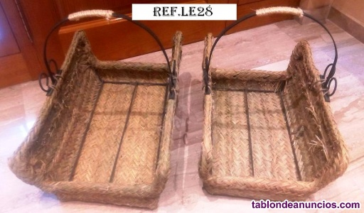 Leñero rectangular forja