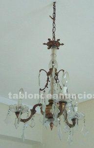 Lámparas de techo con lágrimas de cristal