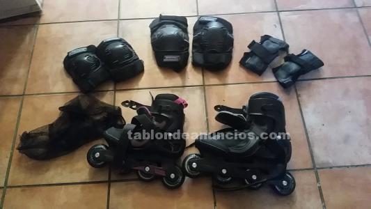 Se venden patines apenas usados con sus protecciones