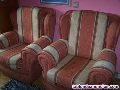 Sofas y mesa y 6 sillas de salon