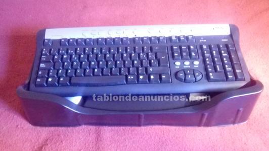 Teclado + ratón inalámbricos cordless desktop