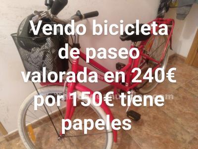 Vendo bicicleta de paseo valorada en más de 240