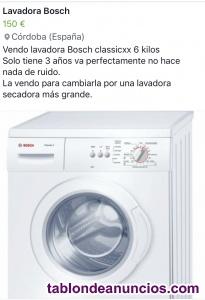 Vendo lavadora bosch