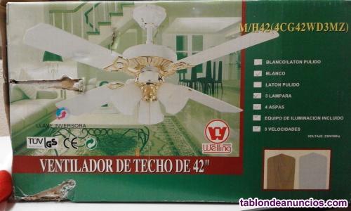 Ventilador de techo con 3 lamparas de 42´´ sin estrenar