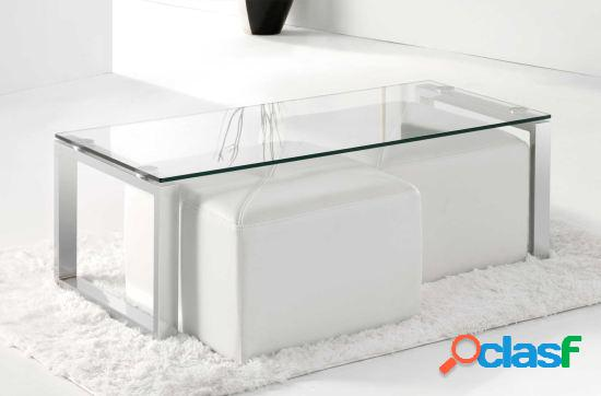 Wellindal Mesa centro cristal modelo benetto