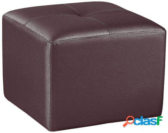 Wellindal puf cuadrado tapizado chocolate 50 cm x 50 cm