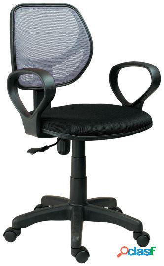 Wellindal silla de escritorio giratoria modelo student negro